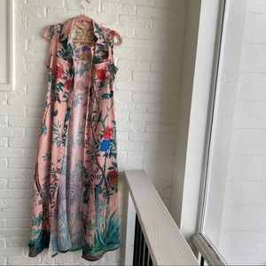 Soft Surroundings Embroidered Floral Duster